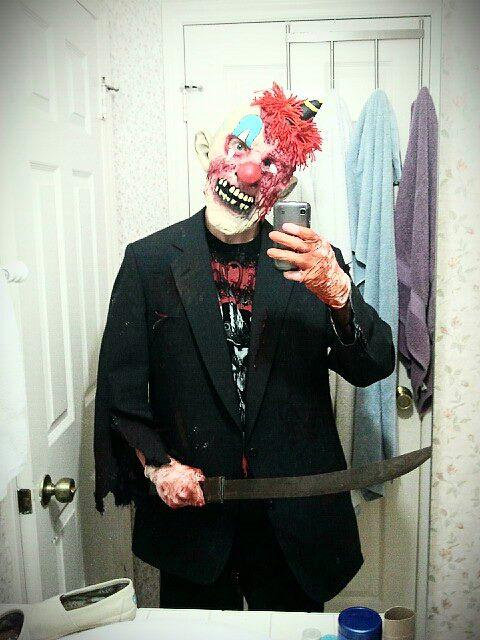 DIY Handmade Zombie Killer Clown Halloween Costume