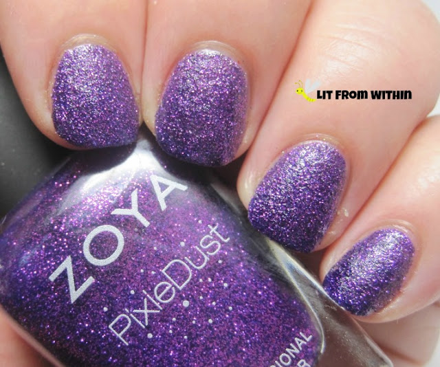 Zoya Carter, a purple Pixie Dust with pink glitter