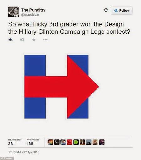 Clinton Election Logo Mocked on Twitter Social Media Politics