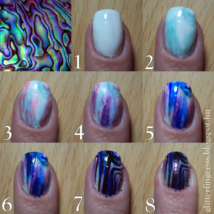 TUTORIAL | Abalone nail art ~ Glitterfingersss in english