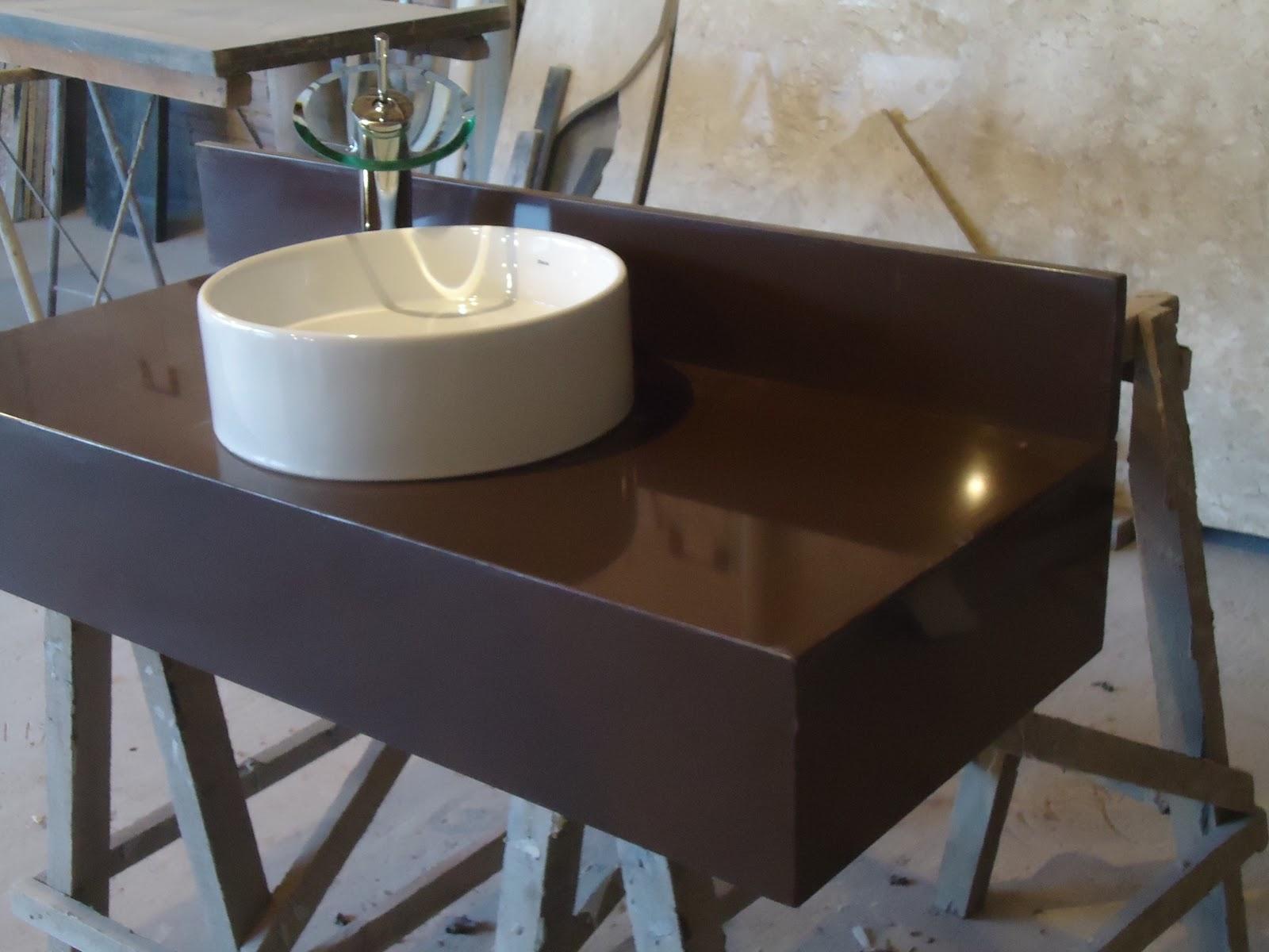 MÁRMORES E GRANITOS: Lavatórios #756956 1600x1200 Banheiro Com Granito Marrom Absoluto