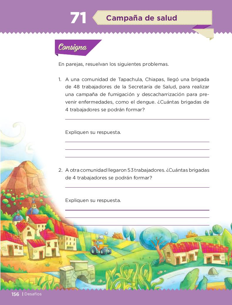 Campaña de salud - Desafios matemáticos 3ro Bloque 5/2014-2015