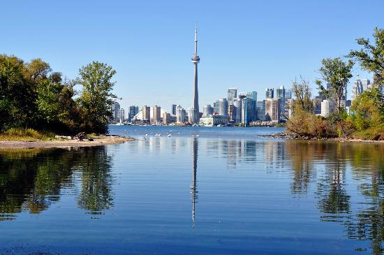 View of Toronto skyline from the islands