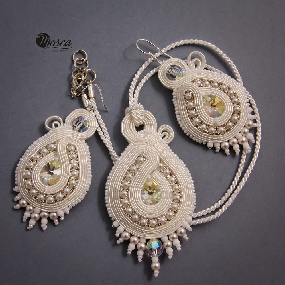 biżuteria ślubna z sutaszu