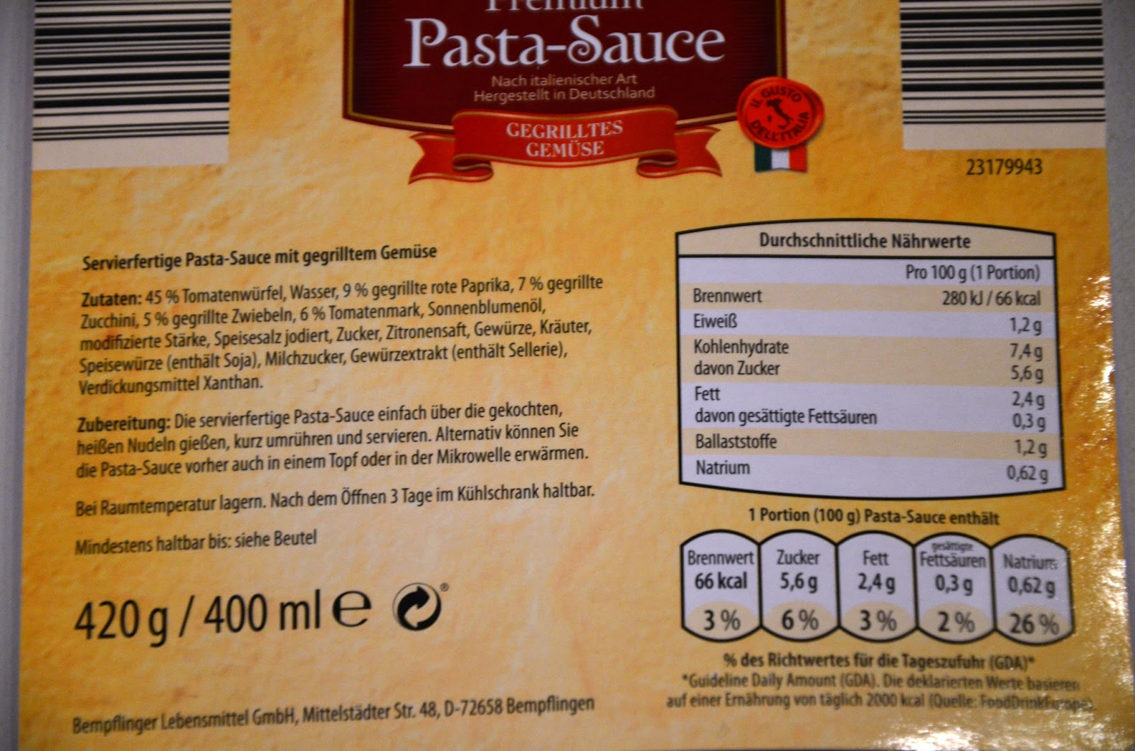 Kühlschrank Pizza Aldi : Fascination food: fertige pastasauce von aldi
