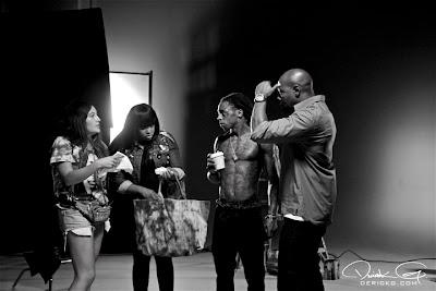 fotos del rodaje del video de mirror de lil wayne y bruno mars