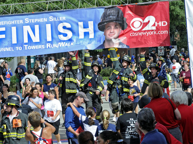 in New York  An estimated        runners including firefighters from cities throughout the country participated in the event honoring firefighter
