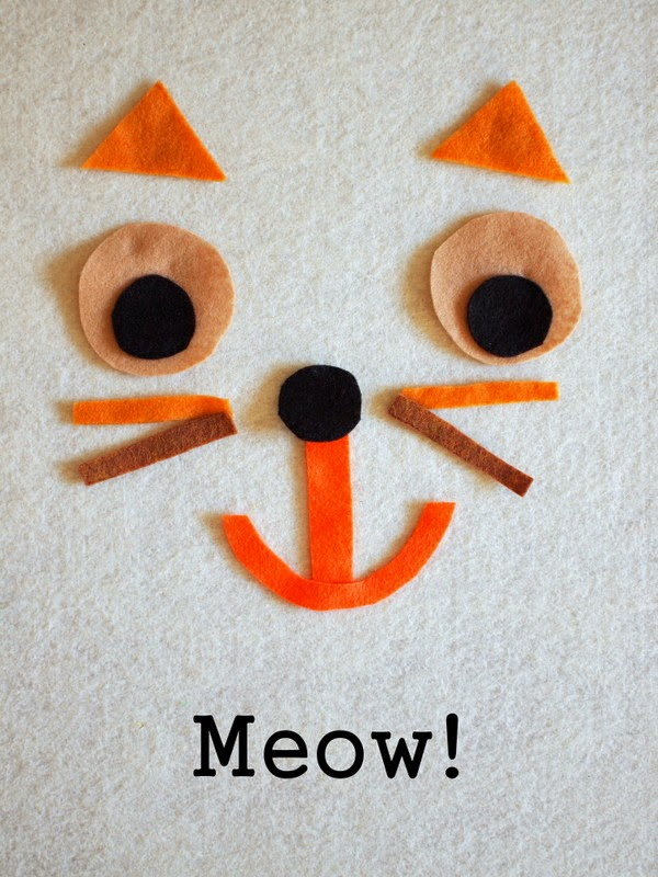 DIY Felt Shape Activity Cat
