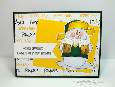 Lambeau Field Homemade Card