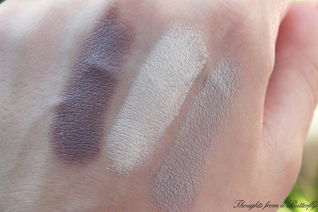 Review trio eyeshadow Paese swatch