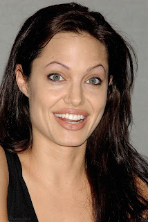 smiling angelina jolie photos