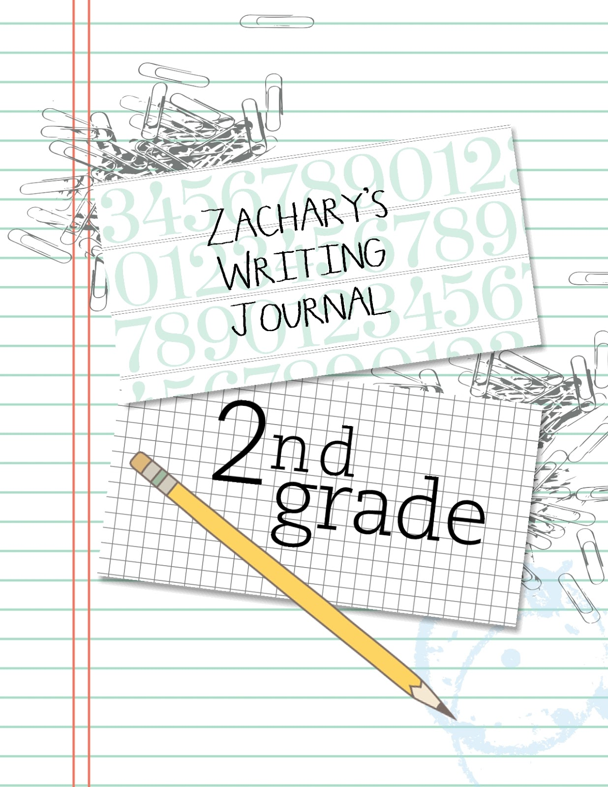 beth's digital cuts!: 2nd grade writing journal