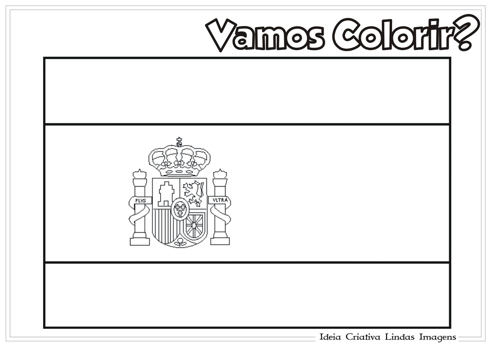 Copa do Mundo 2014 - Grupo B: Bandeira da Espanha pra colorir