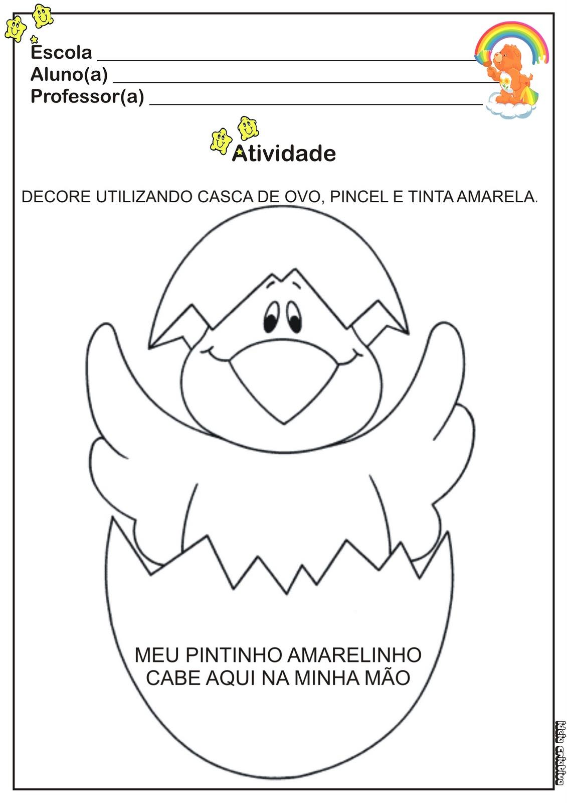 Atividade Arte   Casca De Ovo E Pincel
