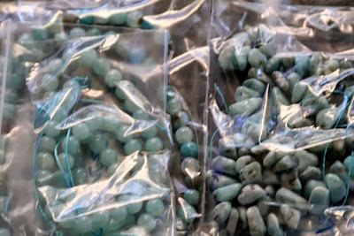 Ancaster Rock and Gem Show ~ the loot bag ~ Larimar, Amazonite, Jasper :: All Pretty Things