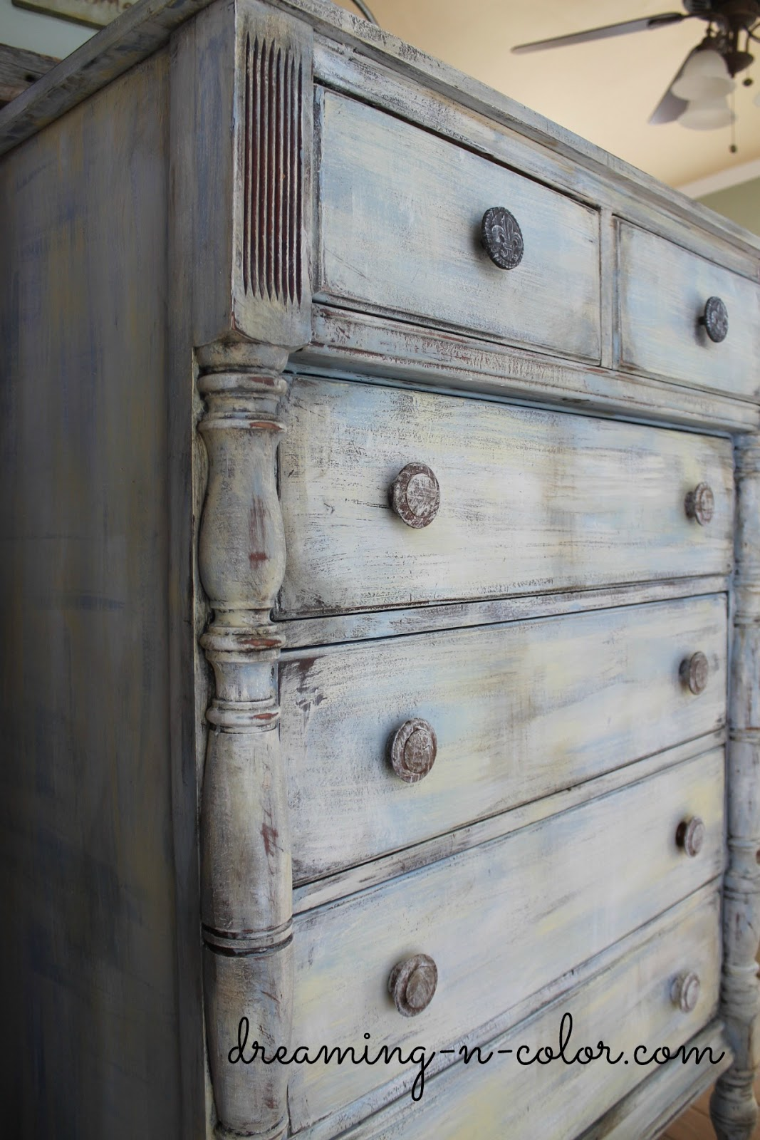 Dreamingincolor Layering Paint On A Dresser