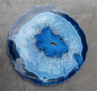 Agata. Gran Corte de Geoda Azul