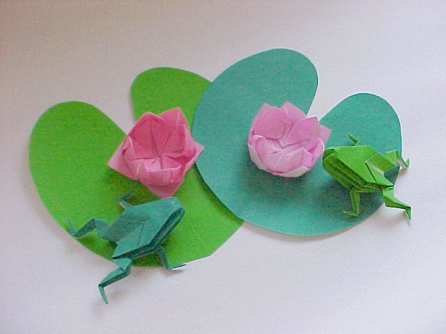 Origami Water Lily And Pad