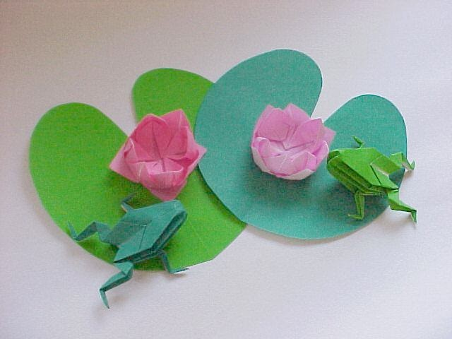 origami maniacs origami water lily and lily pad