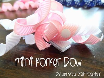 Mini Korker Bow Tutorial at GYCT
