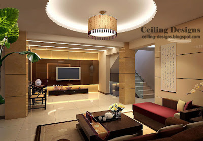 Living Room on Hidden Lighting And Cloth Chandelier For Living Room In Modern Homes