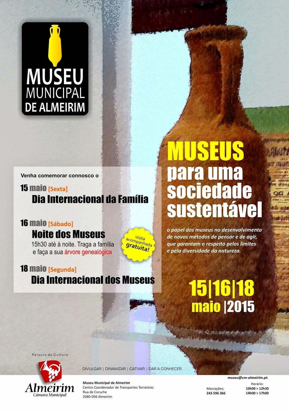 Dia Internacional da Família - Noite dos Museus - Dia Internacional dos Museus