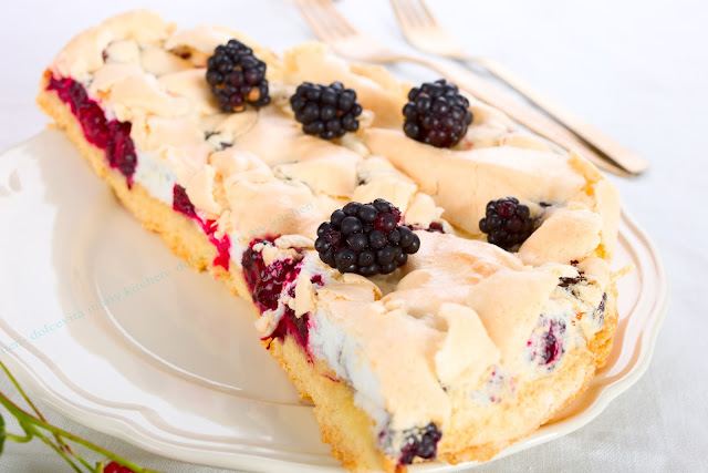 Sommer- Rezepte. Baiser-Kuchen. Edyta Guhl.