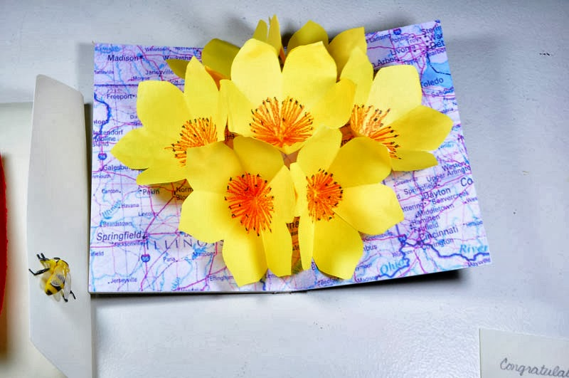 pop up pages transition tank: seven flowers pop-up card