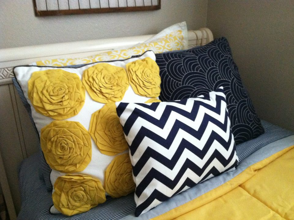Navy blue and yellow bedding submited images - Navy blue and yellow bedding ...