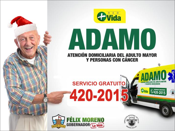 PARA CUALQUIER EMERGENCIA LLAMA AL 420-2015 SERVICIO GRATUITO DE ATENCIÓN DOMICILIARIA AL ADULTO MA