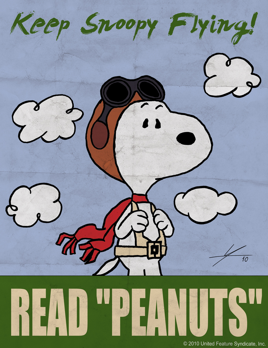 Peanuts 60th Anniversary: Keep Snoopy Flying by IAMO