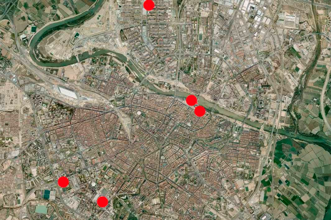 Donde ver halcones peregrinos en la ciudad de Zaragoza