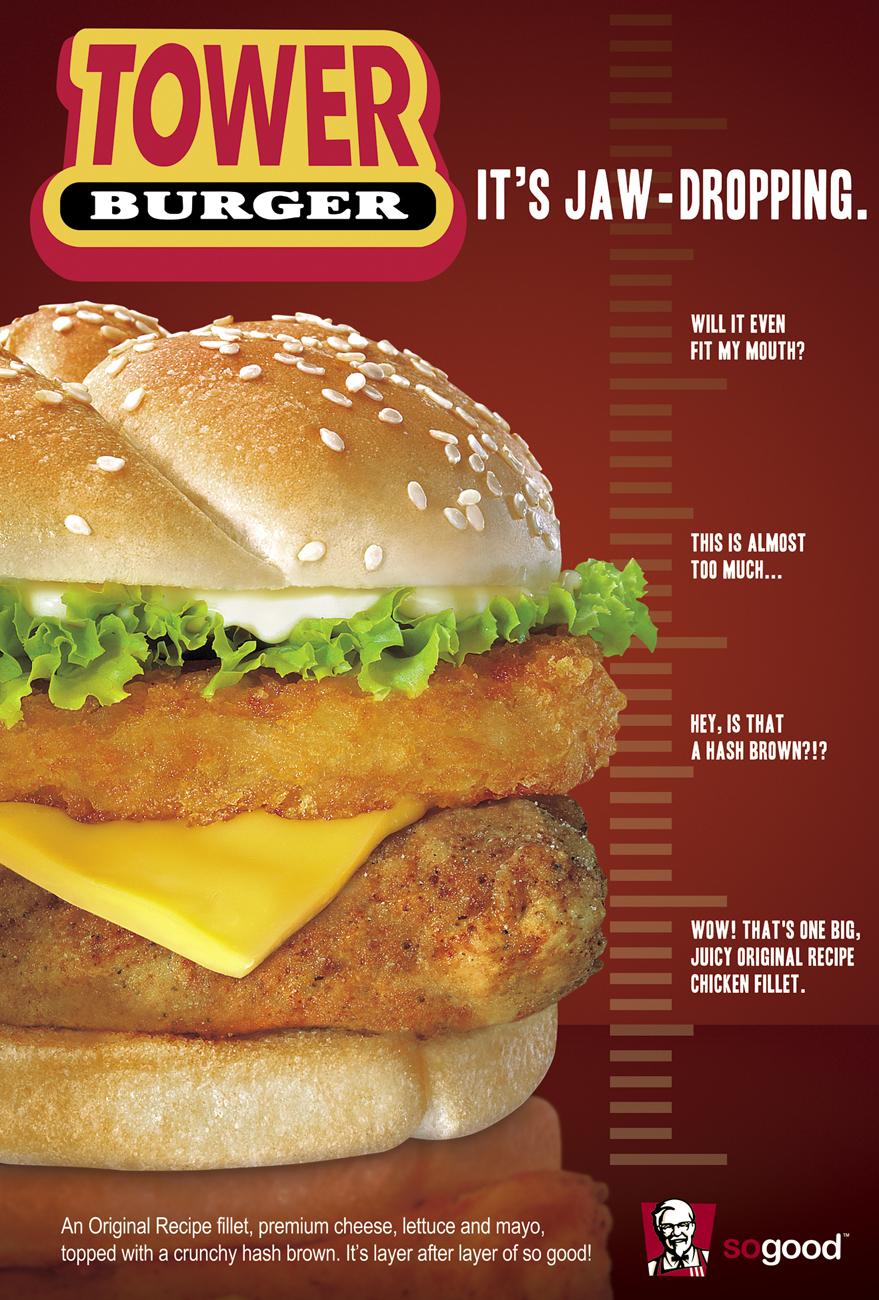 Single burger kfc
