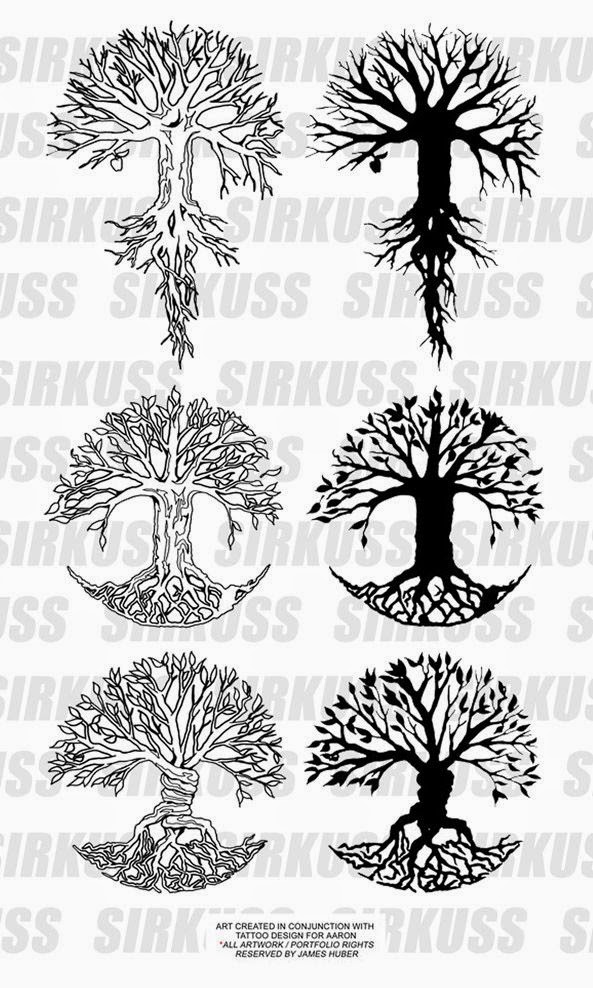 ♥ ♫ ♥ ♡ Tree tattoo love it!!. ♡ ♥ ♫ ♥