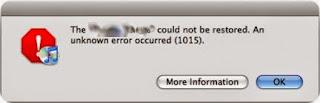iTunes Error 1015