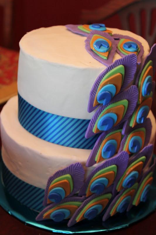 How To Make A Peacock Cake