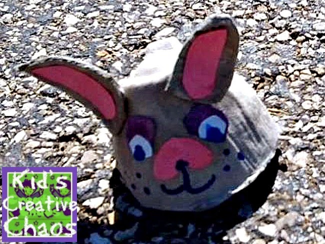 Egg Carton Bunny Craft for Kids.
