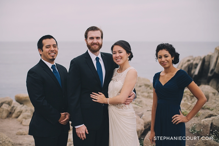 wedding party photos at lovers point monterey