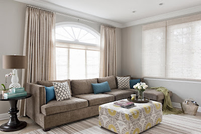 neutral palette living room area with a touch of feminine by Frances Herrera