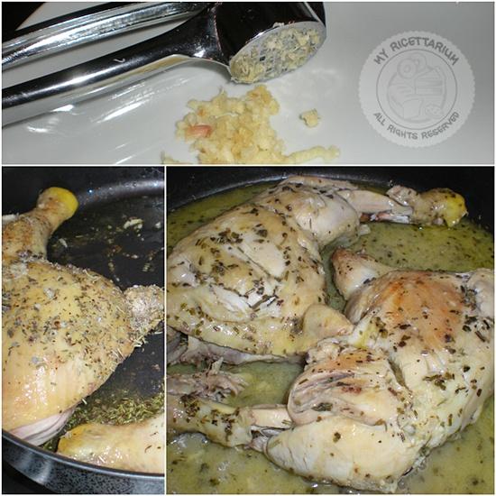 Sovracosce di pollo in salsa di capperi ed acciughe