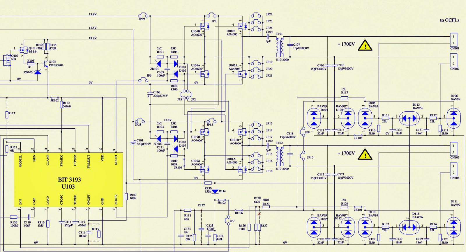Схема монитора mag ps-776