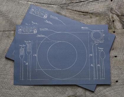 manteles de papel blueprint