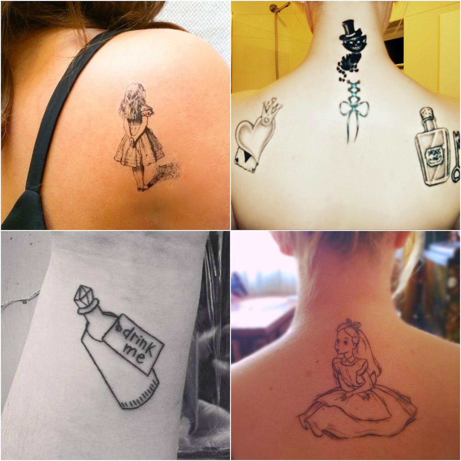 Inspire Se Tatuagens De Alice No País Das Maravilhas Chuva De Jujubas