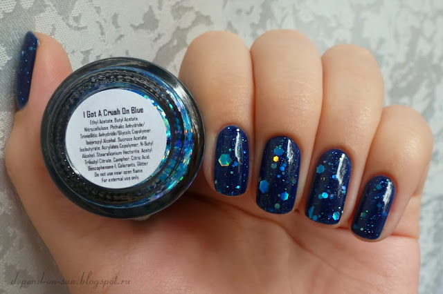 KBShimmer I got a crush on blue & Anny Blue marine