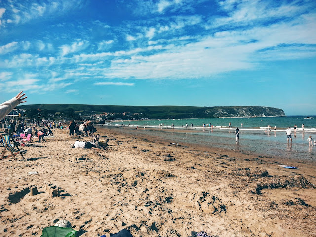 the beach at swanage