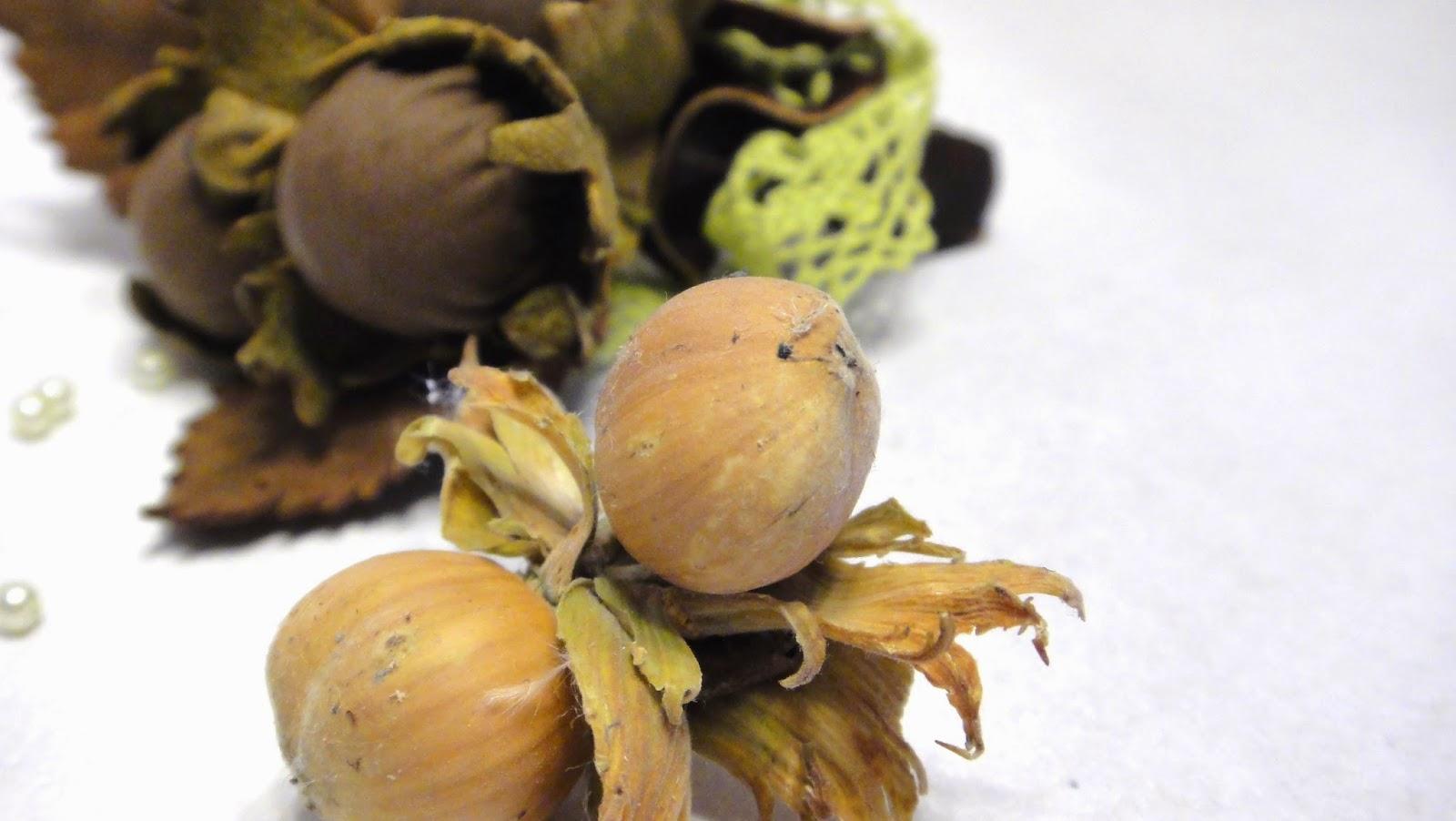 """Лесные орешки, осенняя брошка, свадебная бутоньерка """"Три орешка для Золушки"""""""