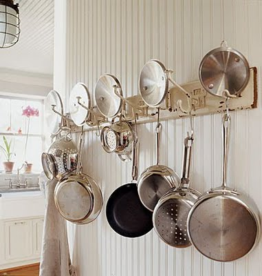 Two Men and a Little Farm: POTS AND PANS STORAGE RACK