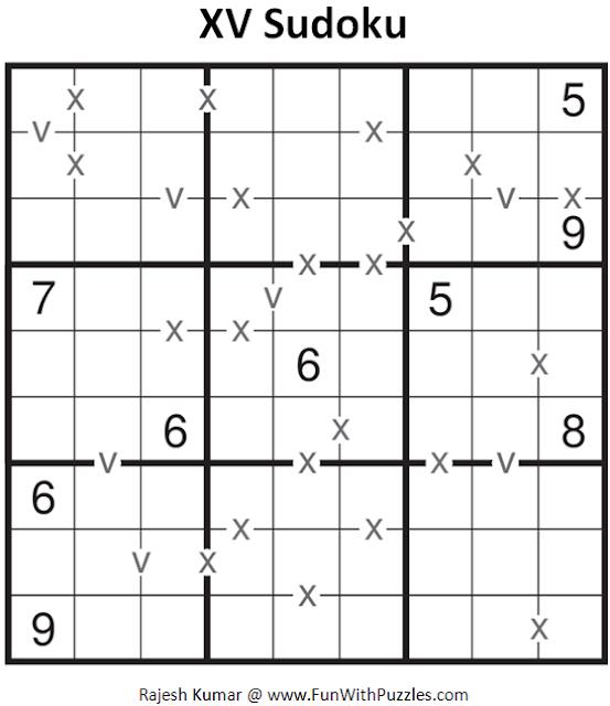 XV Sudoku (Fun With Sudoku #93)