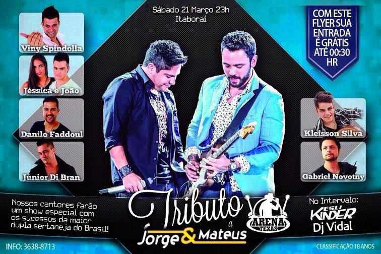 O cantor sertanejo Gabriel Novotny faz participação especial em Tributo a Jorge & Matheus