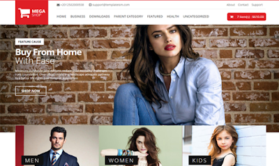 Mega Shop: Responsive Blogger template